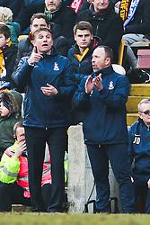 Bradford City Manager, Phil Parkinson and Steve Parkin - Photo mandatory by-line: Matt McNulty/JMP - Mobile: 07966 386802 - 15/02/2015 - SPORT - Football - Bradford - Valley Parade - Bradford City v Sunderland - FA Cup - Fifth Round