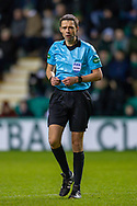 Referee Kevin Clancy during the William Hill Scottish Cup fourth round match between Hibernian FC and Dundee United FC at Easter Road Stadium, Edinburgh, Scotland on 28 January 2020.
