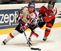 ◊Copyright:<br />GEPA pictures<br />◊Photographer:<br />Norbert Juvan<br />◊Name:<br />Satan<br />◊Rubric:<br />Sport<br />◊Type:<br />Eishockey<br />◊Event:<br />IIHF WM 2005, Oesterreich vs Slowakei, AUT vs SVK<br />◊Site:<br />Wien, Austria<br />◊Date:<br />04/05/05<br />◊Description:<br />Miroslav Satan (SVK), Emanuel Viveiros (AUT)<br />◊Archive:<br />DCSNJ-0405051340<br />◊RegDate:<br />04.05.2005<br />◊Note:<br />9 MB - BG/BG - Nutzungshinweis: Es gelten unsere Allgemeinen Geschaeftsbedingungen (AGB) bzw. Sondervereinbarungen in schriftlicher Form. Die AGB finden Sie auf www.GEPA-pictures.com.<br />Use of picture only according to written agreements or to our business terms as shown on our website www.GEPA-pictures.com