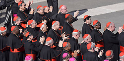 Cardinals at the last General Audience from Pope Benedict XVI on the St Peters Square ,  February 28, 2013. Photo by Imago / i-Images...UK ONLY