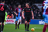 Lee Cattermole of Sunderland (6) isn't happy with a decision given by Craig Hicks (Referee) during the EFL Sky Bet League 1 match between Scunthorpe United and Sunderland at Glanford Park, Scunthorpe, England on 19 January 2019.