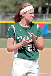 09 May 2014:  Molly McCready during an NCAA Division III women's softball championship series game between the Lake Forest Foresters and the Illinois Wesleyan Titans in Bloomington IL