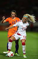 Football - 2017 UEFA Women's European [Euro] Championship - Group A : Netherlands vs. Denmark<br /> <br /> Line Jensen of Denmark and Renate Jansen of The Netherlands  at Sparta Stadoin , Rotterdam.<br /> <br /> COLORSPORT/LYNNE CAMERON