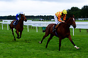 Second Slip ridden by George Wood and trained by James Fanshawe ridden in the Sky Sports Racing Sky 415 Novice Stakes - Mandatory by-line: Ryan Hiscott/JMP - 24/08/20 - HORSE RACING - Bath Racecourse - Bath, England - Bath Races