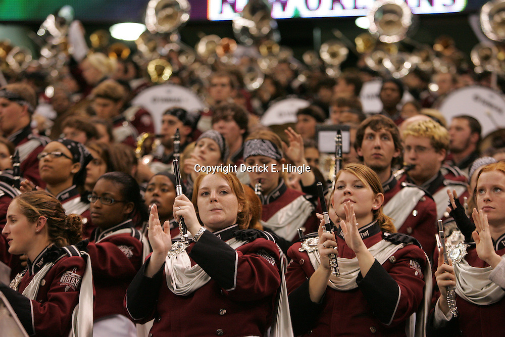 21 December 2008: Troy band in the stands during a 30-27 overtime victory by the Southern Mississippi Golden Eagles over the Troy Trojans in the  R+L Carriers New Orleans Bowl at the New Orleans Superdome in New Orleans, LA.