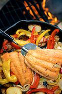 Fish fry over an open fire