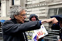 Piers Corbyn at the anti vaccine and anti lockdown protest london  photo by Krisztian  Elek