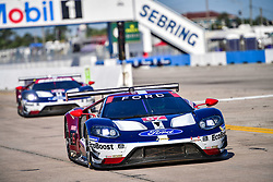 March 14, 2019 - Sebring, Etats Unis - 67 FORD CHIP GANASSI RACING (USA) FORD GT GTLM RYAN BRISCOE (AUS) RICHARD WESTBROOK (GBR) SCOTT DIXON  (Credit Image: © Panoramic via ZUMA Press)