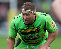 Northampton Saints Dylan Hartley during the Aviva Premiership match at the Kingsholm Stadium, Gloucester