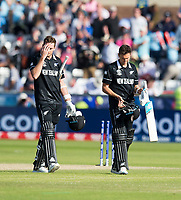Cricket - 2019 ICC Cricket World Cup - Group Stage: England vs. NZ<br /> <br /> New Zealand players look dejected after losing by 119 runs, at the Riverside, Chester-le-Street, Durham.<br /> <br /> COLORSPORT/BRUCE WHITE