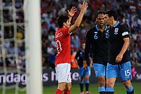 Fotball , 20. mai 2012, Privatlandskamp , Ullevaal<br /> Norge - England<br /> Tarik Elyounoussi , Norge roper på straffe<br /> Foto: Sjur Stølen , Digitalsport