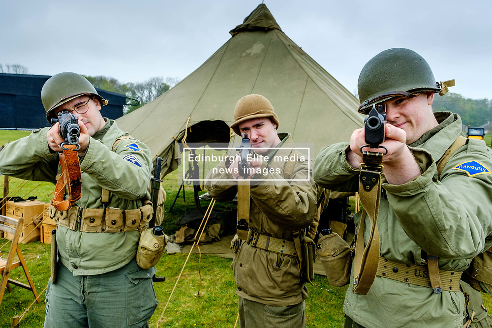 """Sunday 7th May 2017 East Fortune:  Wartime Experience at the National Museum of Flight, East Fortune.  Reenactors from """"They Lead The Way"""".<br /> <br /> (c) Andrew Wilson 