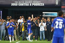 Zinedine Zidane durante a 10ª edição do Jogo Contra a Pobreza - Match Against Poverty, na Arena do Grêmio, em Porto Alegre. FOTO: Lucas Uebel/Preview.com
