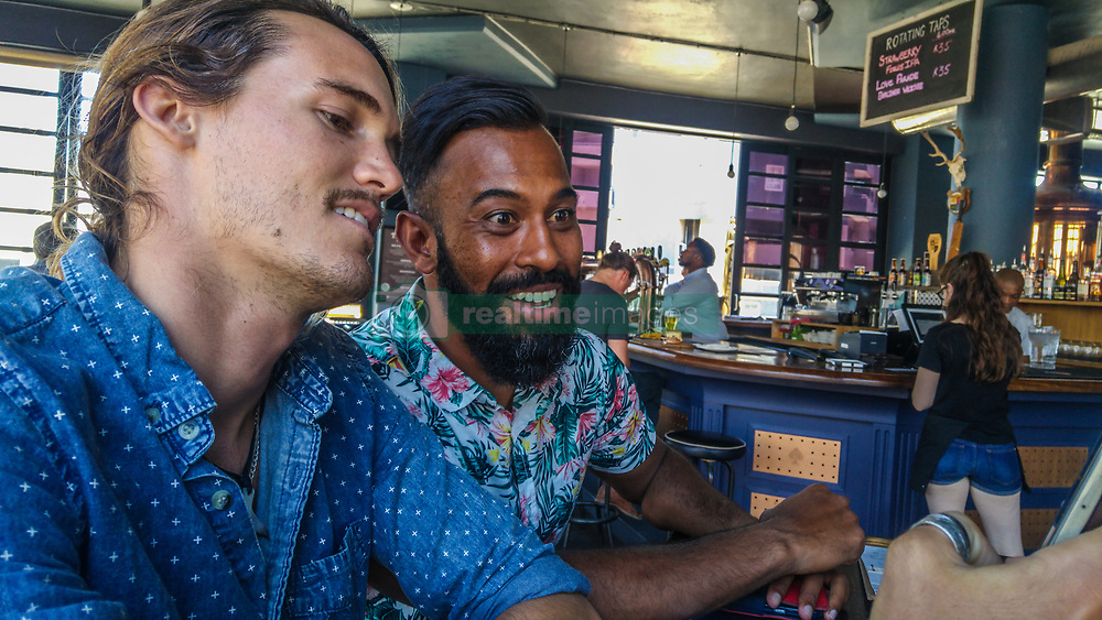 Friends out having fun in Cape Town