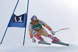 21.01.2011, Hahnenkamm, Kitzbuehel, AUT, FIS World Cup Ski Alpin, Men, Super G, im Bild Erik Guay (CAN) takes to the air competing in the 2011 Hahnenkamm Super Giant Slalom race (Super G)part of  Audi FIS World Cup races in Kitzbuhel Austria. EXPA Pictures © 2011, PhotoCredit: EXPA/ M. Gunn