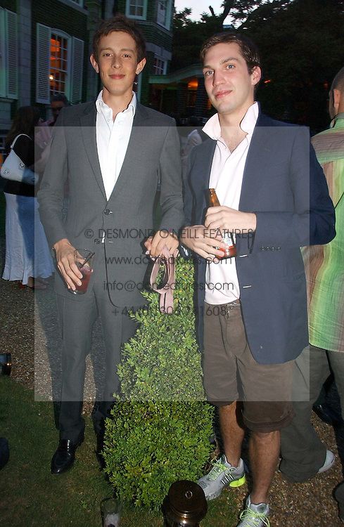 Left to right, the HON.JAMES ROTHSCHILD and WILLIAM AITKEN at the Quintessentially Summer Party held at Debenham House, 8 Addison Road, London W14 on 15th June 2006.<br /><br />NON EXCLUSIVE - WORLD RIGHTS