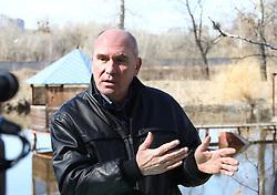March 28, 2019 - Kyiv, Ukraine - Head of the Fishermen Association of Ukraine Oleksandr Chystiakov, Kyiv, capital of Ukraine, March 28, 2019. Ukrinform. /VVB/ (Credit Image: © Volodymyr Tarasov/Ukrinform via ZUMA Wire)