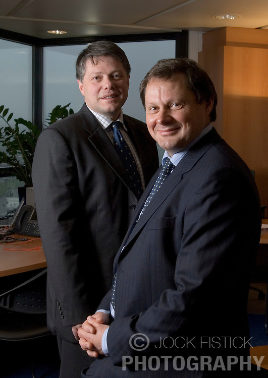 BRUSSELS, BELGIUM - DEC-15-2006 - Jos Sluys, founder and CEO of Arinso International with Rudy Vandenberghe, Executive Director, of Arinso International. (PHOTO © JOCK FISTICK)<br />