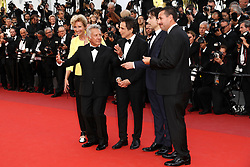 Actor Adam Sandler, actress Emma Thompson, director Noah Baumbach, actor Ben Stiller and actor Dustin Hoffman of 'The Meyerowitz Stories' attend the 'The Meyerowitz Stories' screening during the 70th annual Cannes Film Festival at Palais des Festivals on May 21, 2017 in Cannes, France. Photo by Shootpix/ABACAPRESS.COM