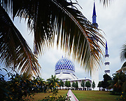 Sultan Salahuddin Abdul Aziz Mosque in Shah Alam, Selangor, Malaysia.
