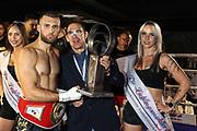 Boxen: Intern. Deutsche Meisterschaft, Bielefeld, 10.07.2021<br /> Bujar Tahiri (GER) - Branislav Malinovic (BIH)<br /> © Torsten Helmke