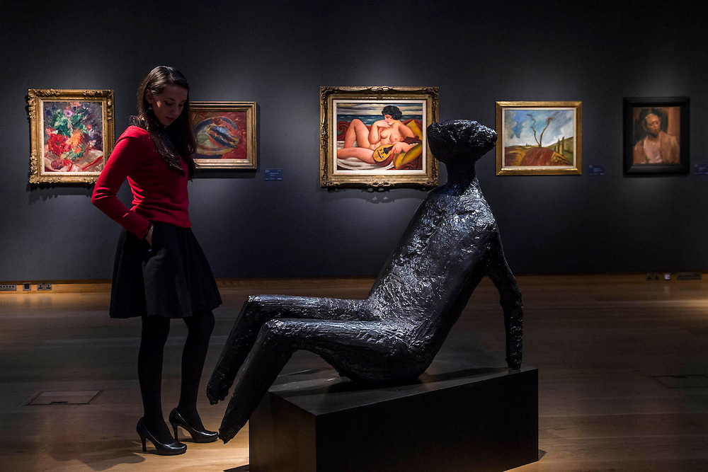 Balanced Figure by Kenneth Armitage - Christie's Modern British and Irish Art Sale which will take place on 19 November 2014. Featuring 35 lots, the auction includes  examples of 20th century British sculpture and painting, such as: John Duncan Fergusson's Poise (estimate: £80,000-120,000); six paintings by L.S. Lowry, led by Coal Barge (estimate: £700,000-1,000,000);  Euan Uglow's masterpiece entitled Three In One (estimate: £500,000-800,000; Figure (Sunion) by Dame Barbara Hepworth (estimate: £600,000-800,000); and sculpture by leading artists of the genre including Henry Moore, Lynn Chadwick, Dame Elisabeth Frink, and Naum Gabo.