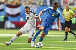 June 22, 2018 - Sao Petesburgo, Vazio, Russia - Marcos Urena of Costa Rica and Carlos Henrique Casimiro of Brasil during the match between Brazil and Costa Rica for the second round of group E of the 2018 World Cup, held at Saint Petersburg Stadium, St. Petersburg, Russia. Game ended scoreless. (Credit Image: © Thiago Bernardes/Pacific Press via ZUMA Wire)