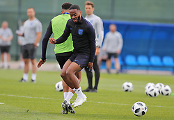 England's Raheem Sterling during the training session at the Spartak Zelenogorsk Stadium, Repino.