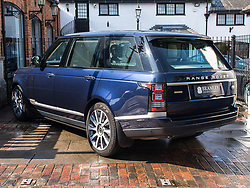 "Prince Philip is selling this custom Range Rover - just weeks after he crashed a different car. The Royal is selling the 4.4-litre Range Rover Autobiography, the car in which he drove former US President Barack Obama and First Lady Michelle during a visit to Windsor back in 2016. The used car - from 2016 and with just 3200 miles on the clock - is on the market for £129,850 GBP - more than a new model can cost. Jack Morgan-Jones, of Bramley Motor Cars, who is selling the vehicle, said: ""It's such a beautiful example that has very low mileage and has been kept to the absolute highest of standards."" The luxurious blue SUV features entertainment screens. It was previously equipped with extra features when belonging to the Royal Household - including specially adapted fixed side steps to enable Her Majesty The Queen to be able to access the rear passenger compartment more comfortably. The description reads: ""The warning sticker for the siren, which was located in the engine compartment, remains as a hint to this Range Rover's previous life. ""These items have since been removed following the vehicle being taken out of Royal Service."" The car is not bulletproof. Prince Philip, 97, was not injured in a car crash in mid-January, which happened as he drove another Land Rover out of a driveway onto a main road close to the Queen's Sandringham estate. Please credit Bramley Motor Cars / MEGA. 22 Feb 2019 Pictured: Range Rover. Photo credit: Bramley Motor Cars/MEGA TheMegaAgency.com +1 888 505 6342"