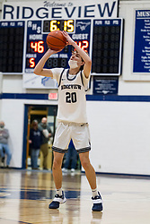 20 February 2021: Boys Basketball game between the Olympia Spartans and the Ridgeview Mustangs at Ridgeview High School, Colfax IL
