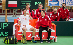 Kamil Majchrzak and Radoslaw Szymanik of Poland  during the Day 2 of Davis Cup 2018 Europe/Africa zone Group II between Slovenia and Poland, on February 4, 2018 in Arena Lukna, Maribor, Slovenia. Photo by Vid Ponikvar / Sportida