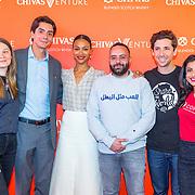 NLD/Amsterdam/20190509 -  Zoe Saldana bij finale van de Chivas Venture, Finalisten Chivas venture 2019