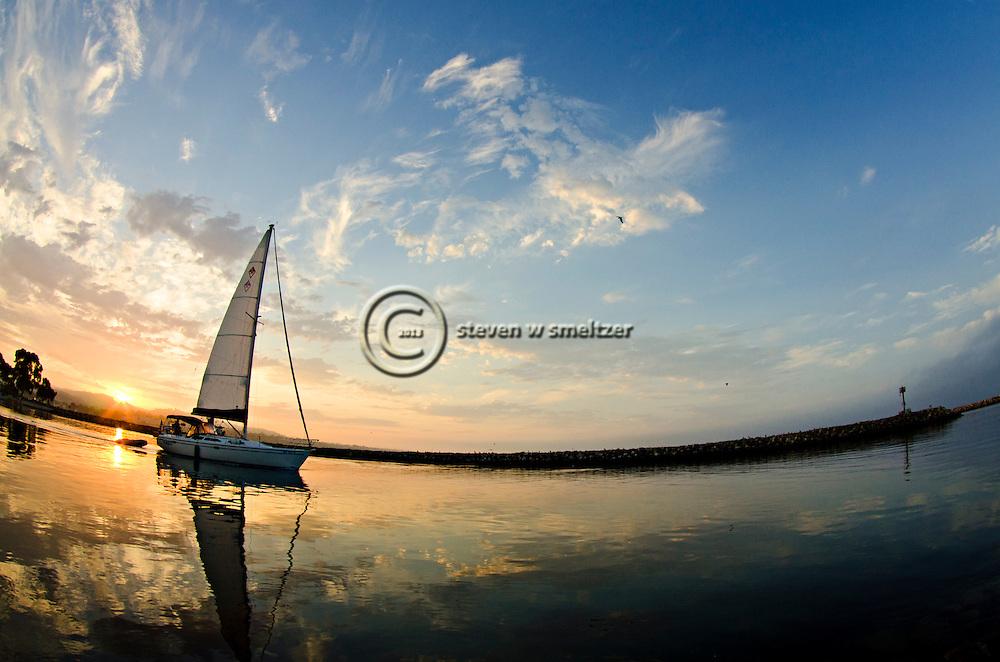 Morning Sail, Dana Point Harbor, California