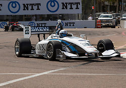 March 9, 2019 - St. Petersburg, FL, U.S. - ST. PETERSBURG, FL - MARCH 09: Olicer Askwe (28) takes 3rd during the Indy Lights Race of St. Petersburg on March 9 in St. Petersburg, FL. (Photo by Andrew Bershaw/Icon Sportswire) (Credit Image: © Andrew Bershaw/Icon SMI via ZUMA Press)