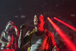 Keith Flint of The Prodigy performing live on stage at Brixton O2 Academy in London. Photo date: Thursday, December 21, 2017. Photo credit should read: Richard Gray/EMPICS Entertainment