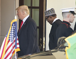 United States President Donald J. Trump welcomes President Muhammadu Buhari of Nigeria to the White House in Washington, DC on Monday, April 30, 2018. Photo by Ron Sachs/CNP/ABACAPRESS.COM