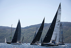 Sailing - SCOTLAND  - 25th-28th May 2018<br /> <br /> The Scottish Series 2018, organised by the  Clyde Cruising Club, <br /> <br /> First days racing on Loch Fyne.<br /> <br /> Class one, Start, IRL2007, Jump Juice, Conor Phelan, RCYC, Ker 37 custom<br /> <br /> Credit : Marc Turner<br /> <br /> <br /> Event is supported by Helly Hansen, Luddon, Silvers Marine, Tunnocks, Hempel and Argyll & Bute Council along with Bowmore, The Botanist and The Botanist