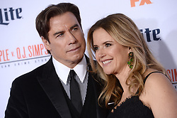 File photo - Kelly Preston and John Travolta attend the premiere of FX's 'American Crime Story - The People V. O.J. Simpson' at Westwood Village Theatre on January 27, 2016 in Los Angeles, CA, USA. Kelly Preston, the actress married to John Travolta, has died after a private battle with breast cancer, aged 57. The actress had been battling against breast cancer for two years, with a family representative confirming news of her passing to People today. Photo by Lionel Hahn/ABACAPRESS.COM