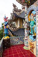 Architecture of Linh Phuoc Pagoda, Da Lat, Vietnam, Southeast Asia