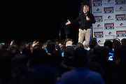 Glenn Beck speaks before a campaign rally for presidential candidate Sen. Ted Cruz on February 28, 2016 in Oklahoma City, Oklahoma.  (Cooper Neill for The New York Times)