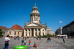 18-05-2019 GER: Berlin is the capital and largest city of Germany, Berlin<br /> <br /> The Französische Dom is a Protestant church on Gendarmenmarkt in Berlin's Mitte district. Strictly speaking, the term Französische Dom means only the dome that was built on the Französische Friedrichstadtkirche. This church was built between 1701 and 1705