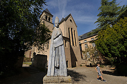 ECHTERNACH, LUXEMBOURG - SEPT-9-2012 - The Abbey of Echternach, stands on the site where Anglo-Saxon monk Willibrord of Ireland, established a Benedictine Monestary in 698. The current abbey was built in 1953. (Photo © Jock Fistick)