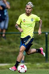 June 6, 2017 - Helsingborg, SVERIGE - 170606 Linus Wahlqvist under en träning med U21-landslaget i fotboll den 6 juni 2017 i Helsingborg  (Credit Image: © Ludvig Thunman/Bildbyran via ZUMA Wire)