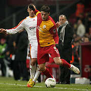 Galatasaray's Albert Riera Ortega (R) during their Turkish Super League soccer match Galatasaray between Kayserispor at the TT Arena at Seyrantepe in Istanbul Turkey on Saturday, 11 February 2012. Photo by TURKPIX