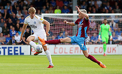 Mark O'Hara of Peterborough United in action with Matthew Lund of Scunthorpe United - Mandatory by-line: Joe Dent/JMP - 13/10/2018 - FOOTBALL - Glanford Park - Scunthorpe, England - Scunthorpe United v Peterborough United - Sky Bet League One