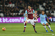 Jose Fonte of West Ham United in action. Premier league match, West Ham Utd v Manchester city at the London Stadium, Queen Elizabeth Olympic Park in London on Wednesday 1st February 2017.<br /> pic by John Patrick Fletcher, Andrew Orchard sports photography.