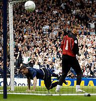 Photo: Jed Wee/Sportsbeat Images.<br /> Scotland v Lithuania. UEFA European Championships Qualifying. 08/09/2007.<br /> <br /> Scotland's Stephen McManus (L) scrambles home to restore Scotland's lead.