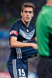 January 26, 2019 - Melbourne, VIC, U.S. - MELBOURNE, AUSTRALIA - JANUARY 26: Melbourne Victory midfielder Raul Baena (15) looks on at the Hyundai A-League Round 16 soccer match between Melbourne Victory and Sydney FC on January 26, 2019, at AAMI Park in VIC, Australia. (Photo by Speed Media/Icon Sportswire) (Credit Image: © Speed Media/Icon SMI via ZUMA Press)