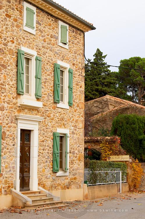 Chateau la Voulte Gasparets. In Gasparets village near Boutenac. Les Corbieres. Languedoc. The villa. France. Europe.