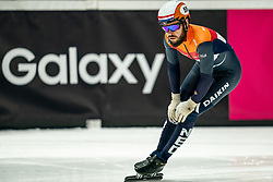 / in action on 1500 meter during ISU World Short Track speed skating Championships on March 05, 2021 in Dordrecht